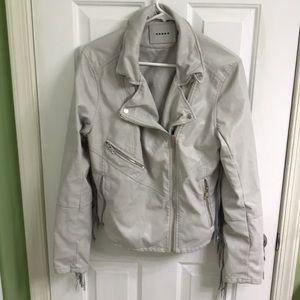 Gray Blank jacket size large with fringe back